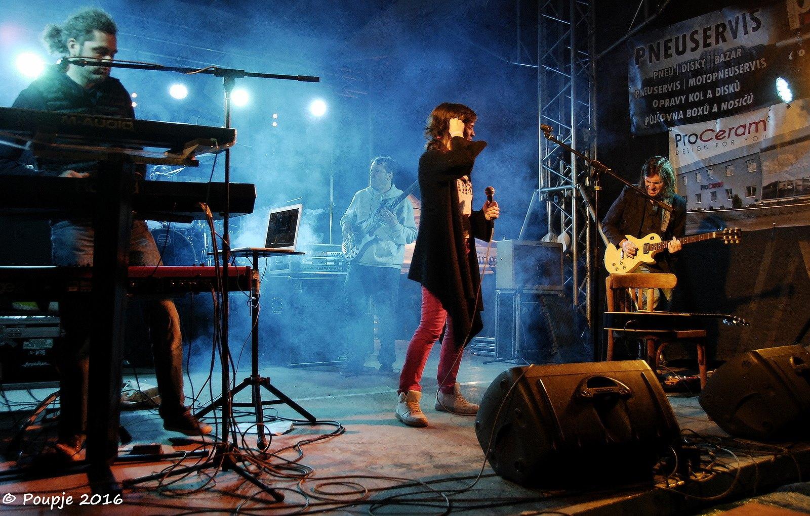 Gang Ala Basta - Třem-Fest 2016 - 07 - Andrea Plíšková, Michal Pavlíček jr., Milan Broum jr., Jan Somolík, Lukáš Máchal